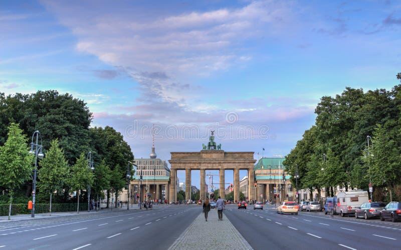 De Poort van Berlijn, Brandenburg stock afbeelding