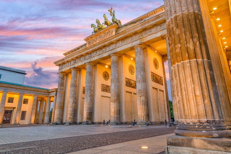 De Poort van Berlijn, Duitsland Brandenburg royalty-vrije stock foto's