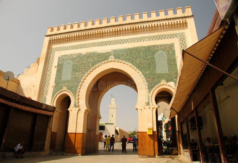 De poort van Bou Jeloud van Bab royalty-vrije stock afbeeldingen