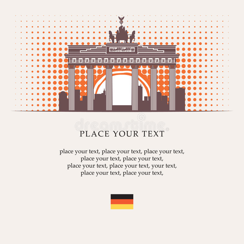 De Poort van Brandenburg royalty-vrije illustratie