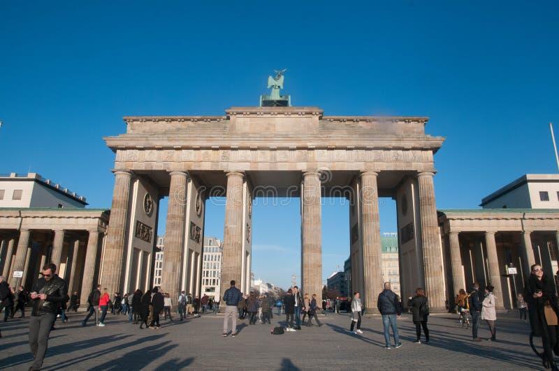 De Poort van Brandenburg, Berlijn, Duitsland stock afbeeldingen