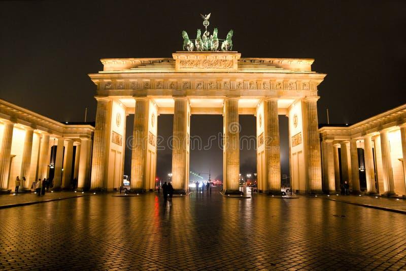 De Poort van Brandenburg, Berlijn, Duitsland. stock foto's