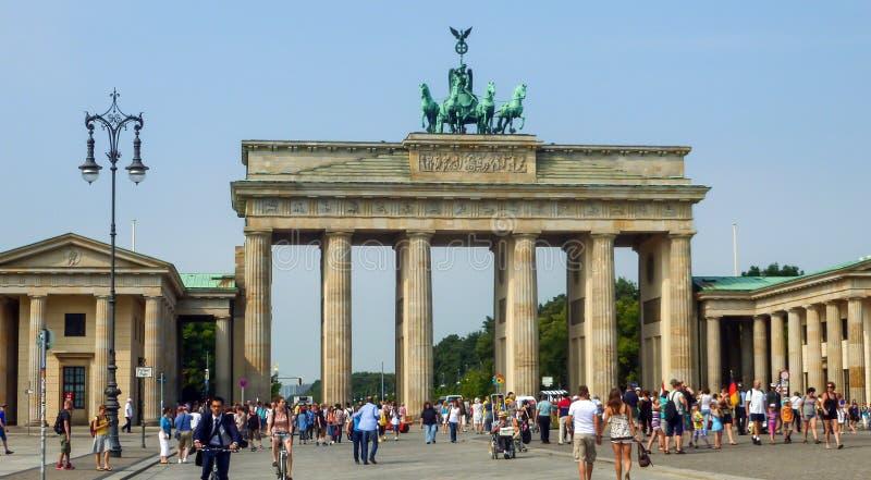 De Poort van Brandenburg in Berlijn, Duitsland royalty-vrije stock foto