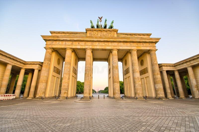 De Poort van Brandenburg in Berlijn, Duitsland stock foto