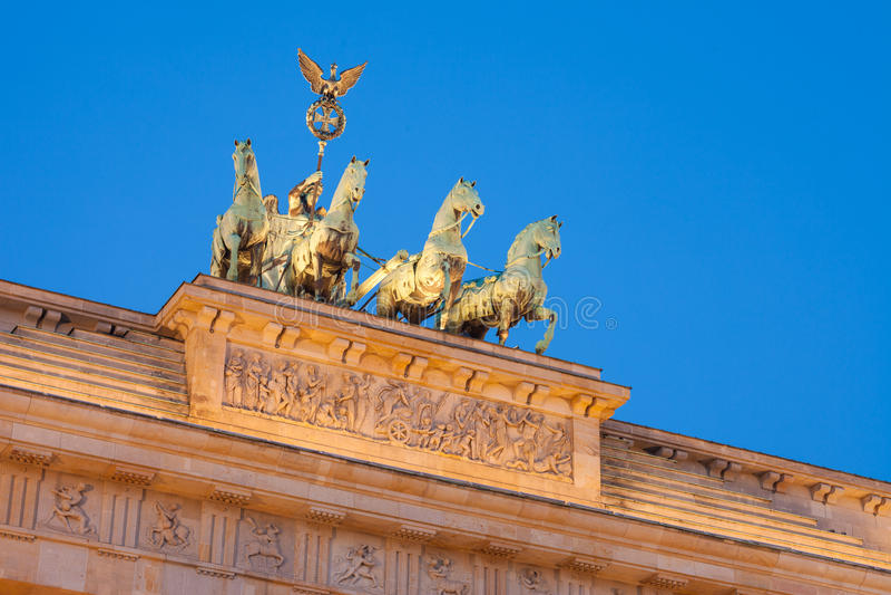 De Poort van Brandenburg (Brandenburger-Piek) stock foto