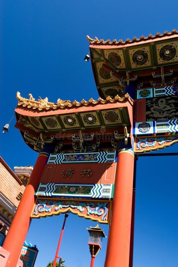 De poort van Chineese stock afbeelding