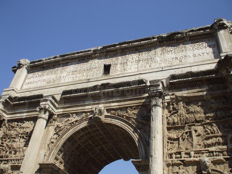 De poort van Constantin in Rome royalty-vrije stock foto's
