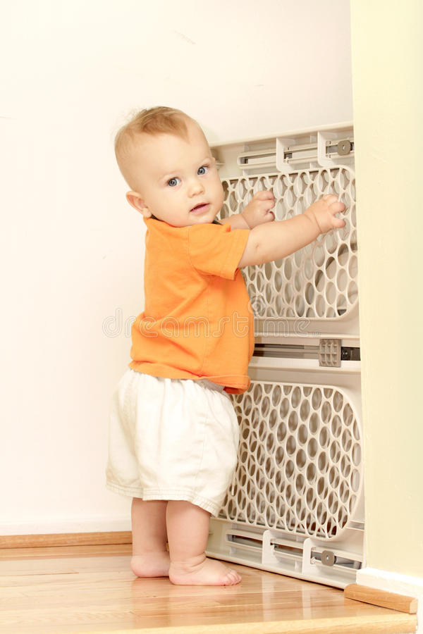 De Poort van de baby stock foto