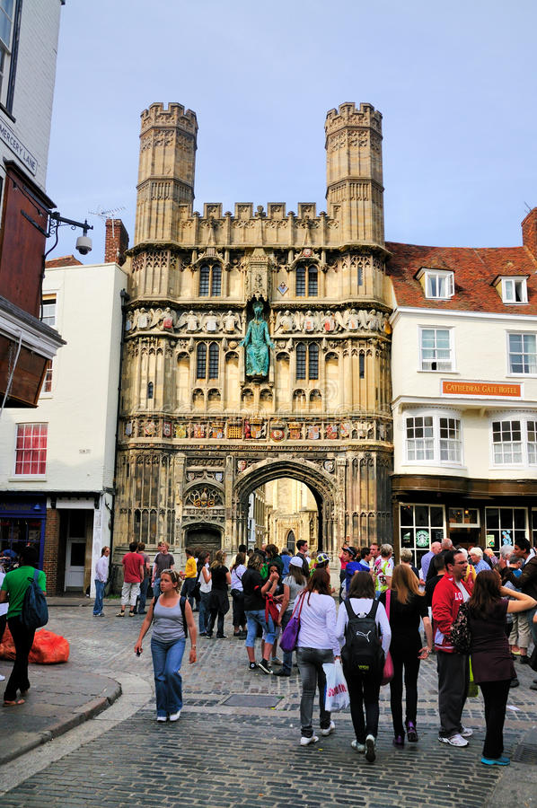De Poort van de kathedraal, Canterbury stock fotografie
