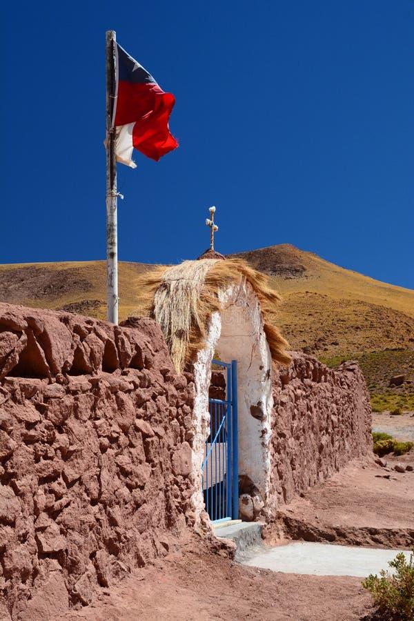 De poort van de kerkingang Machucadorp San Pedro de Atacama Antofagastagebied chili stock fotografie