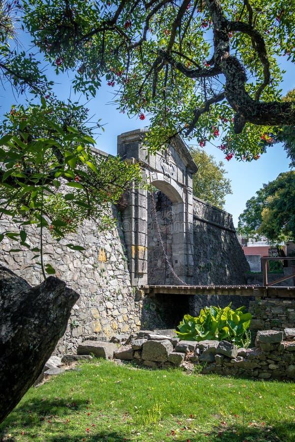 De Poort van de Portonde Campo Stad - Colonia del Sacramento, Uruguay royalty-vrije stock afbeeldingen