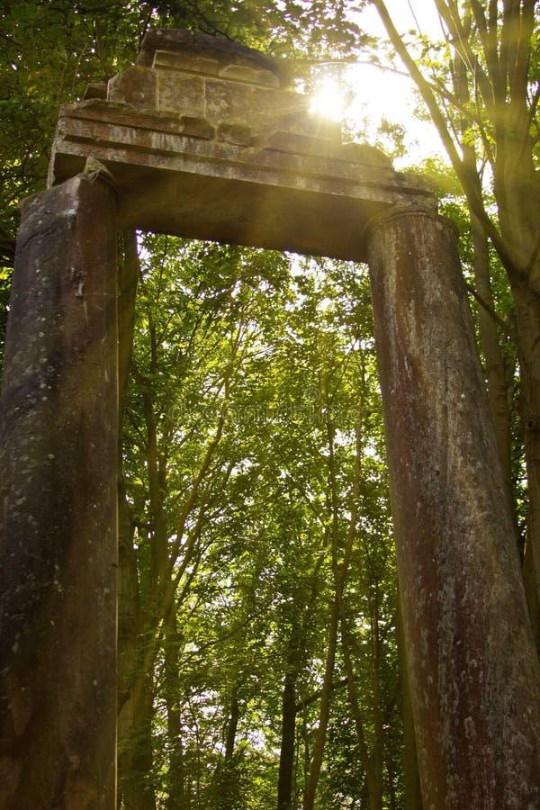 De poort van de steen stock foto
