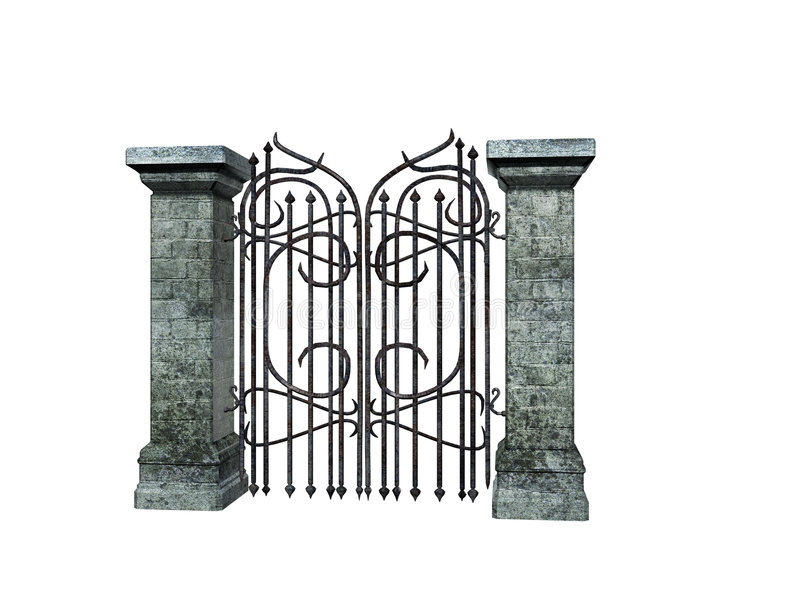 Download De Poort van de steen stock illustratie. Illustratie bestaande uit poort - 281427