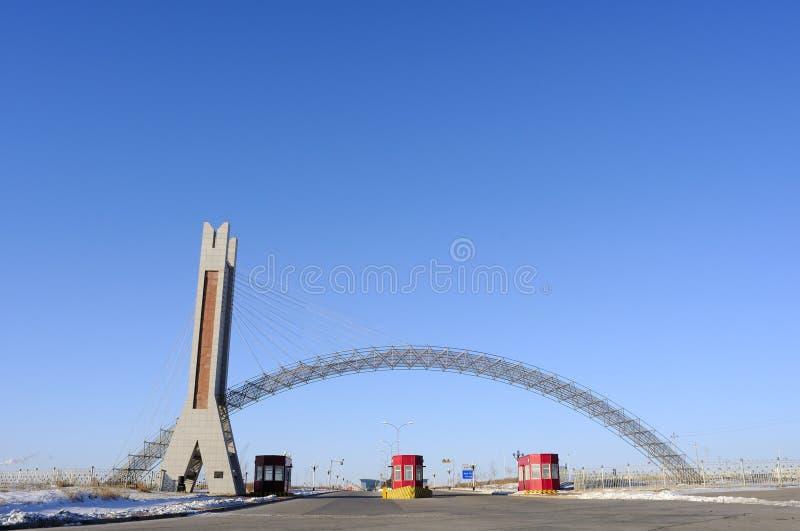 De poort van de Tol van de weg royalty-vrije stock foto's