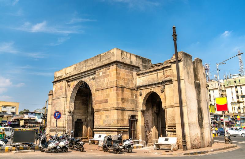 De Poort van Delhi in Ahmedabad, de Staat van Gujarat van India stock foto
