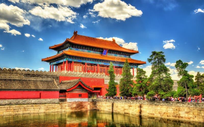 De poort van Goddelijk zou in de Verboden Stad - Peking kunnen stock foto