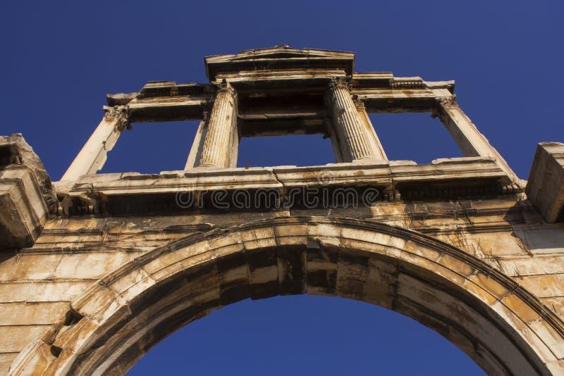 De poort van Hadrian stock foto