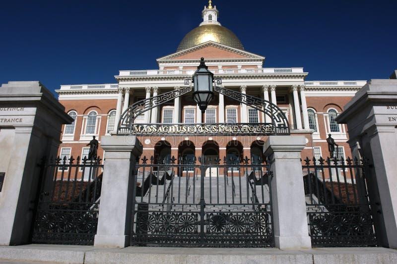 De poort van het de staatshuis van Massachusetts royalty-vrije stock foto's