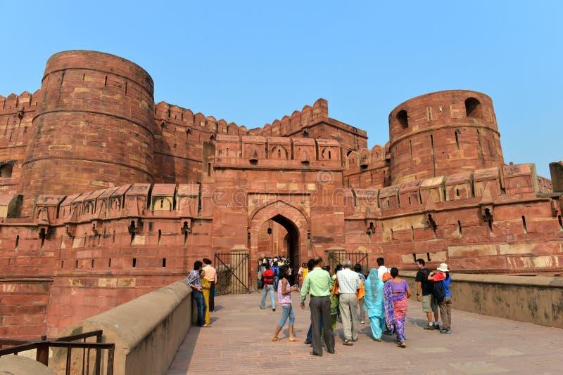De Poort van het Fort van Agra, Agra royalty-vrije stock afbeelding