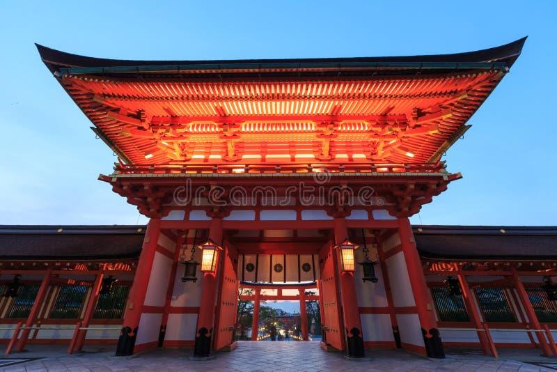 De Poort van het Heiligdom van Fushimi Inari Taisha in Japan royalty-vrije stock fotografie