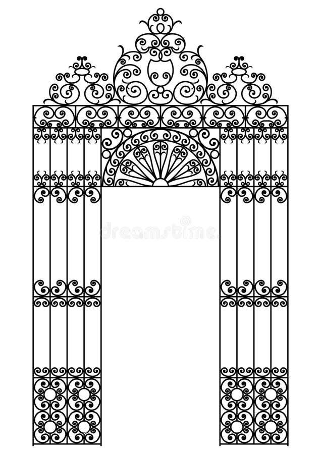 De poort van het ijzer royalty-vrije illustratie