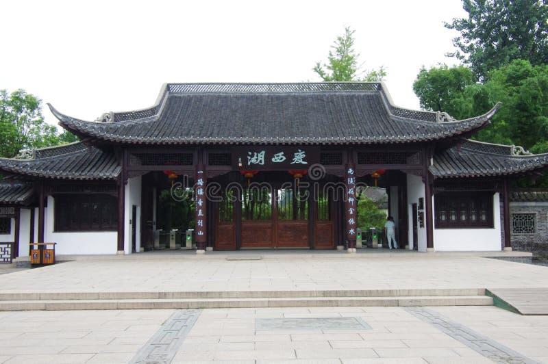De poort van het Slanke Meer van het Westen in yangzhou royalty-vrije stock foto