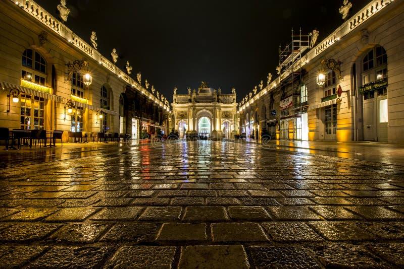 De poort van het Stanislas vierkant van Nancy - Frankrijk stock foto's