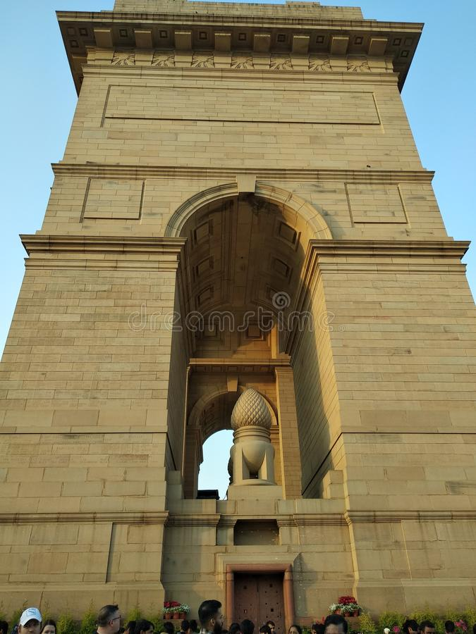 De Poort van India in Delhi stock foto