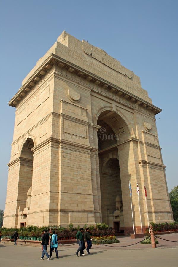 De Poort van India in New Delhi, India royalty-vrije stock fotografie