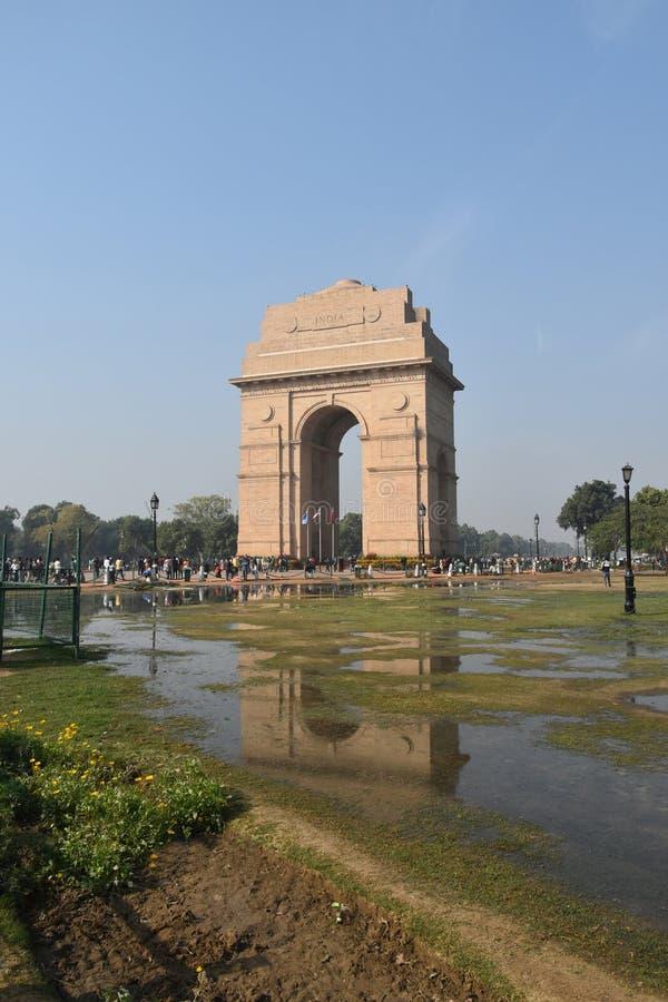 De Poort van India, New Delhi, Noord-India royalty-vrije stock foto