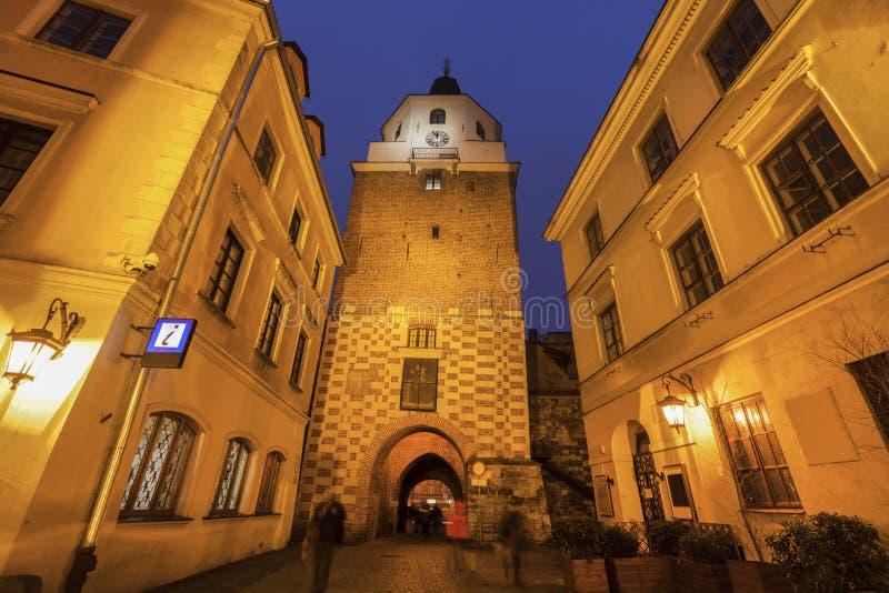 De Poort van Krakowska in Lublin royalty-vrije stock foto