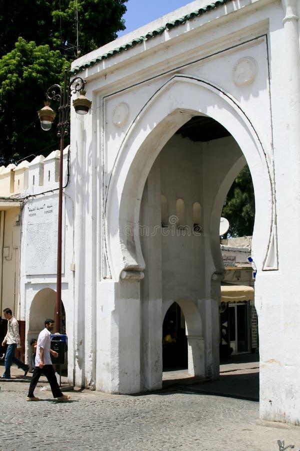 De Poort van Medina in Tanger, Marokko royalty-vrije stock foto's