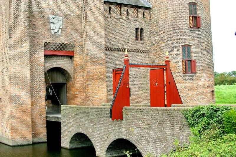 De poort van Muiderslot stock afbeelding