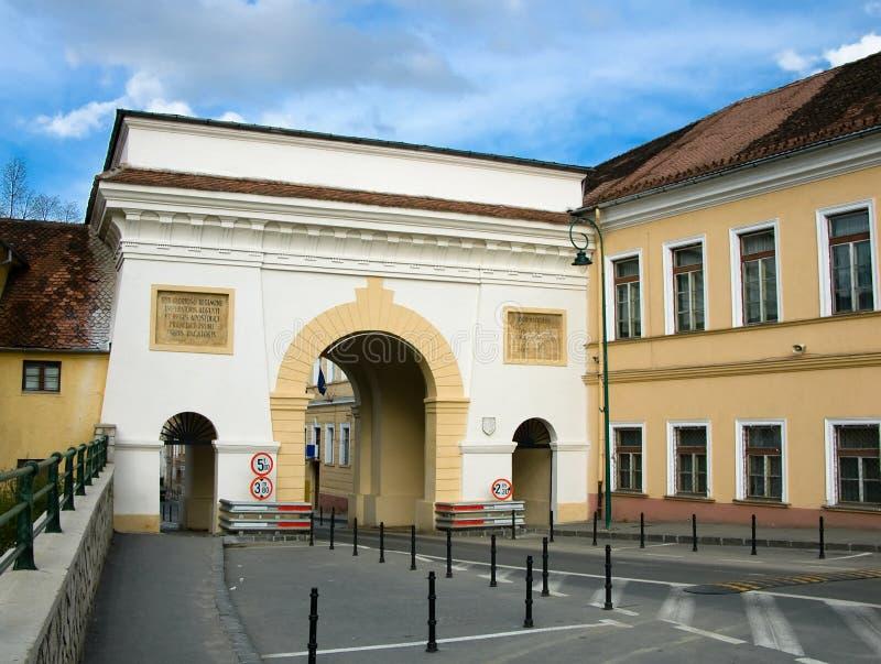 De Poort van Schei in Brasov stock fotografie