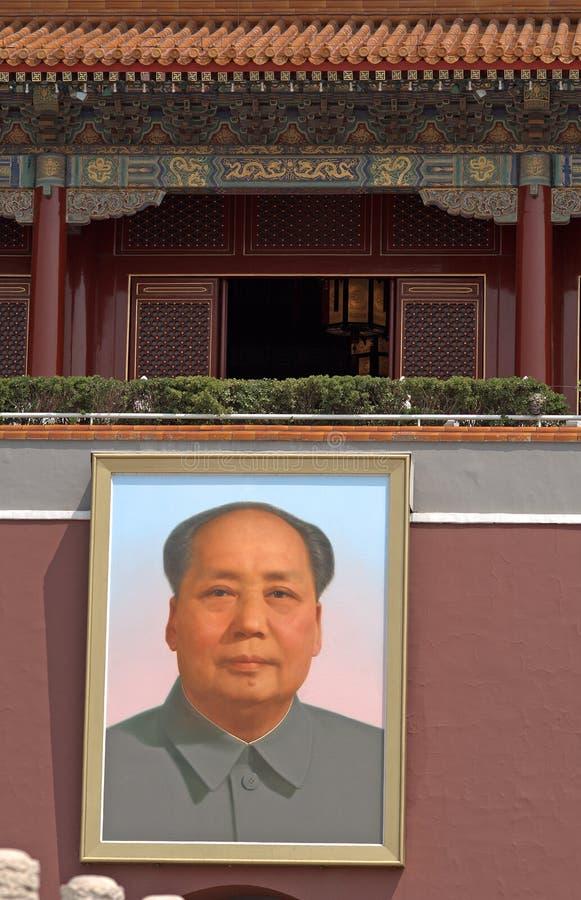 De Poort van Tiananmen, Peking, China stock afbeelding
