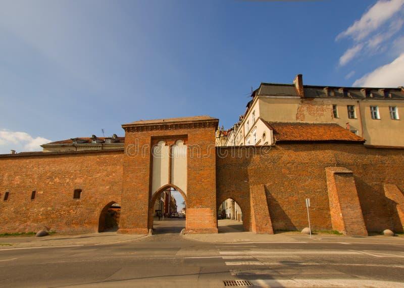 De Poort van zeelieden, Torun, Polen royalty-vrije stock afbeelding