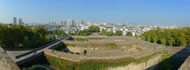 De Poort van Zhonghua en Nanjing Horizon, China stock foto's