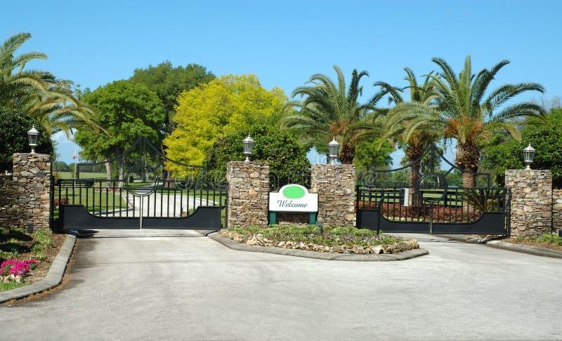De Poorten van de ingang stock foto