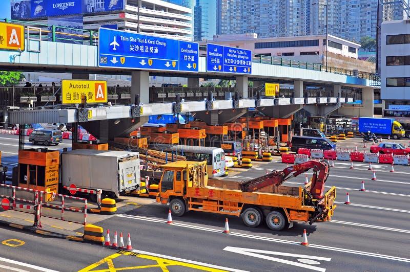 De poorten van de tol bij gehangen hom, Hongkong royalty-vrije stock foto
