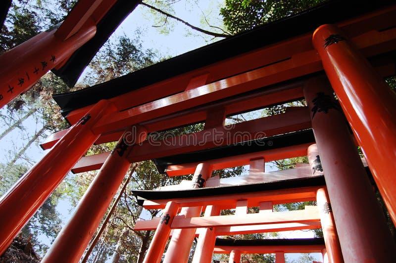 De poorten van het heiligdom stock foto