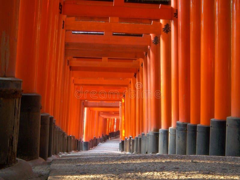 De Poorten van het Heiligdom van Fushimi stock fotografie