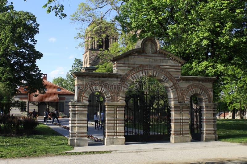 De poorten van kerk Lazarica royalty-vrije stock afbeelding