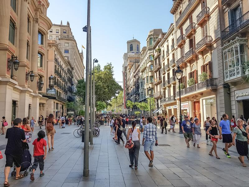 De poortengel van DE l `, Barcelona royalty-vrije stock afbeeldingen