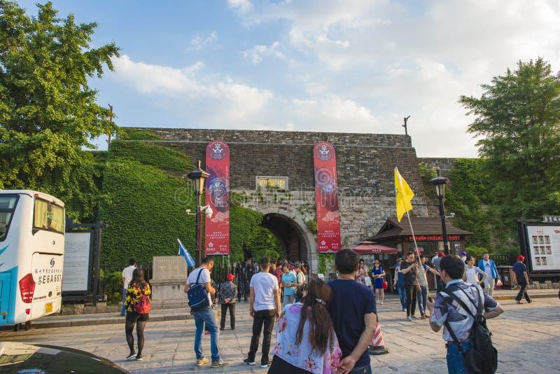 De Poortkasteel van Nanjingschina royalty-vrije stock foto