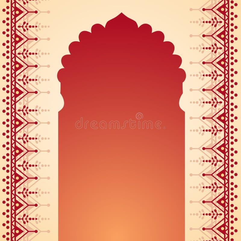De poortontwerp van de hennatempel royalty-vrije illustratie