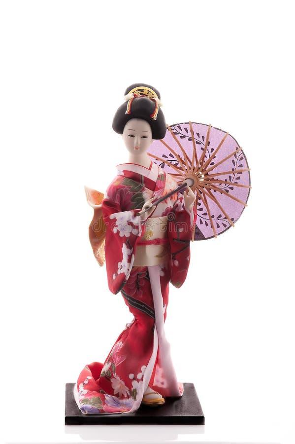 De pop van de geisha stock foto's
