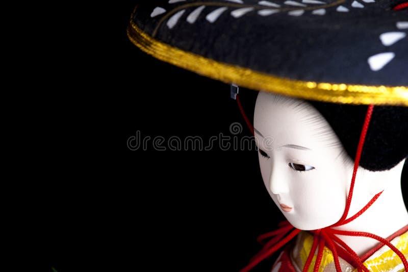 De pop van de geisha stock fotografie