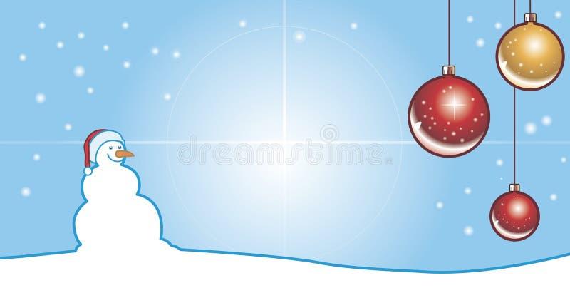 De pop van de sneeuw op Kerstmis royalty-vrije illustratie