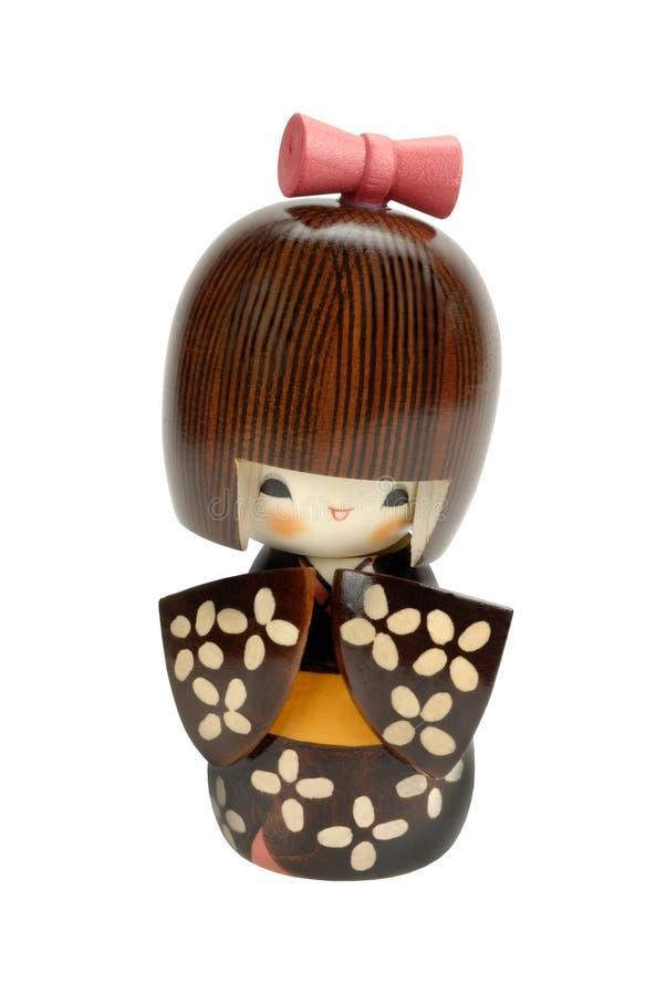 De pop van Kokeshi stock afbeeldingen