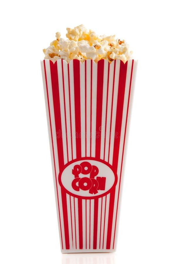 Download De Popcorn Van De Film Op Wit Stock Foto - Afbeelding bestaande uit heerlijk, zout: 10779508